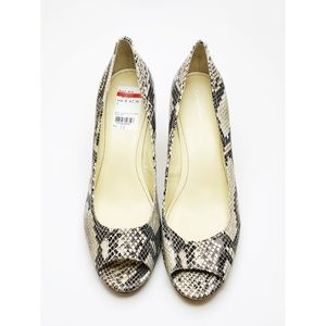 Calvin Klein Ladies Pumps Heels Leather Gray 11M